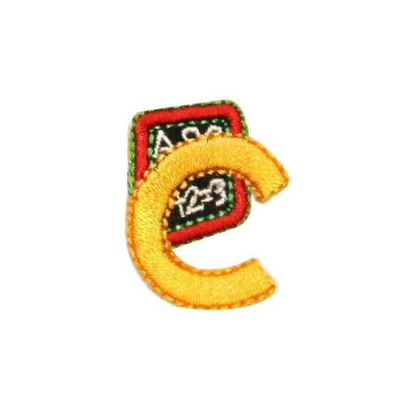 ID 0994B Small Letter C Reading Patch School Grade Embroidered Iron On Applique
