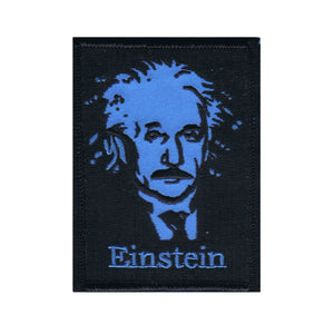 Famous Genius Albert Einstein Patch Portrait School Education Iron On Applique