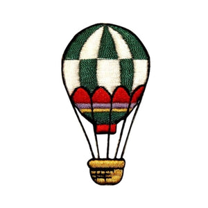 ID 1102B Hot Air Balloon Patch Festival Ride Basket Embroidered Iron On Applique