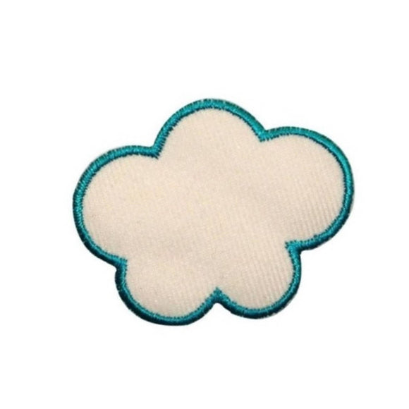 ID 1111A Lumpy Cloud Patch Sky Cloudy Day Shape Embroidered Iron On Applique