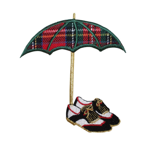 ID 1504 Golf Shoes Umbrella Patch Golfing Accessory Embroidered Iron On Applique