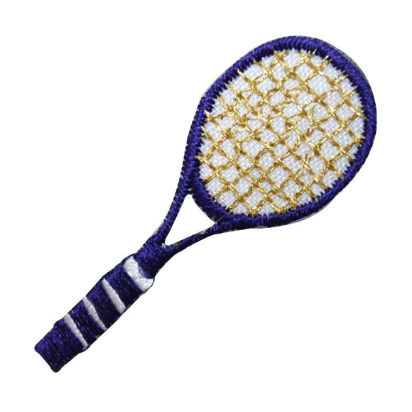 ID 1560 Tennis Racket Patch Purple Racquet Sports Embroidered Iron On Applique