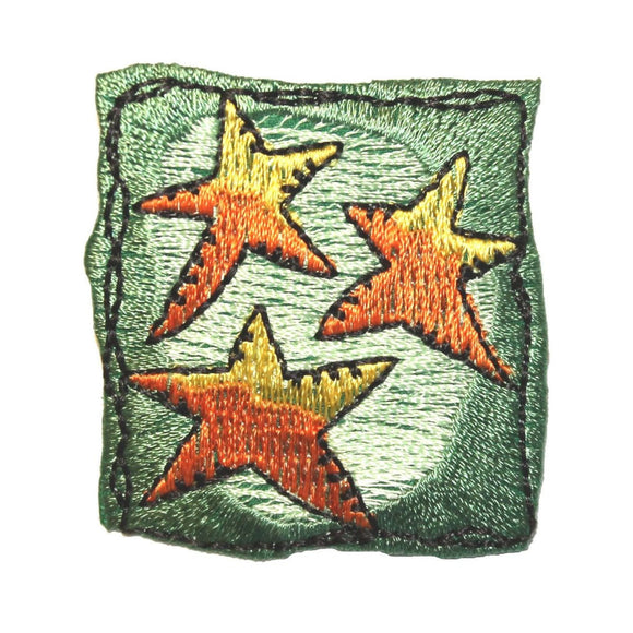 ID 8246 Festive Star Badge Patch Holiday Decoration Embroidered Iron On Applique