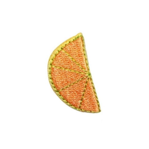 ID 1214C Orange Slice Patch Summer Drink Fruit Embroidered Iron On Applique