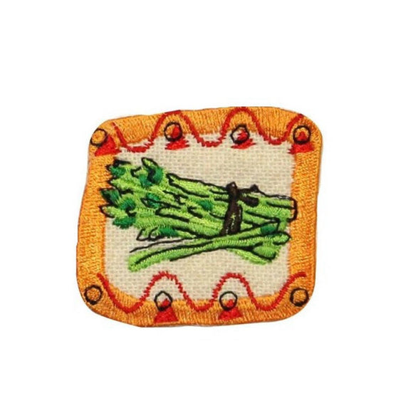 ID 1226D Asparagus Badge Patch Vegetable Garden Embroidered Iron On Applique