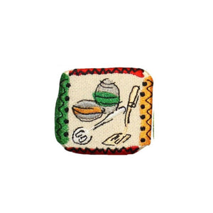 ID 1227A Cooking Badge Patch Kitchen Utensils Craft Embroidered Iron On Applique