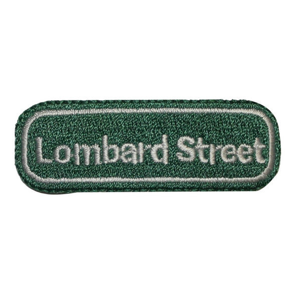 ID 1702 Lombard Street Sign Patch San Francisco Embroidered Iron On Applique
