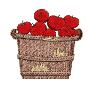 ID 1295 Bushel of Apples Patch Orchard Farm Picking Embroidered Iron On Applique