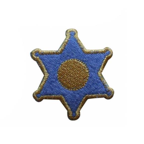 ID 1372C Sheriff Badge Patch Rodeo Denim Star Law Embroidered Iron On Applique