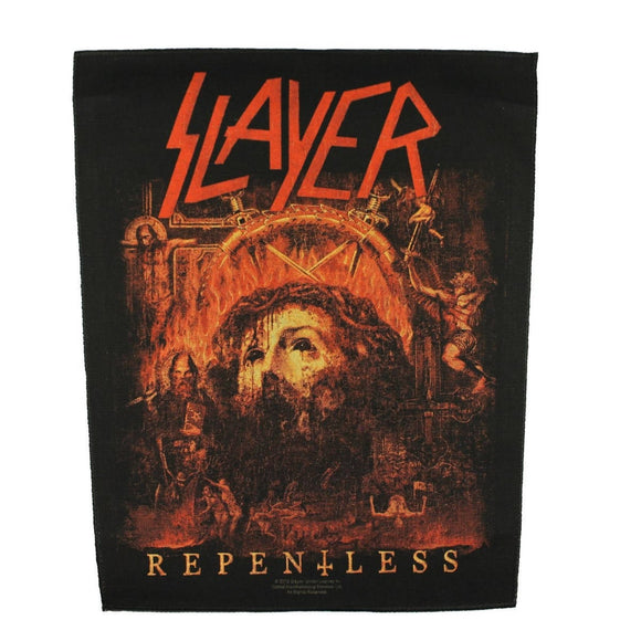 XLG Slayer Repentless Back Patch Album Art Heavy Metal Jacket Sew on Applique