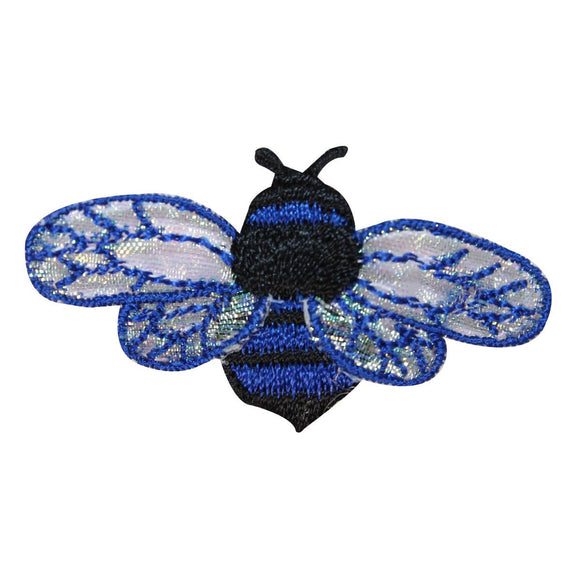 ID 1615D Bee Flying Patch Honey Wasp Colorful Bug Embroidered Iron On Applique