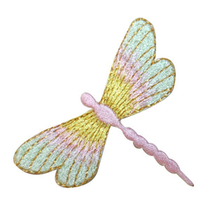 ID 1646B Multicolored Dragonfly Patch Garden Bug Embroidered Iron On Applique