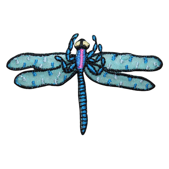 ID 1660 Dragonfly Flying Patch Garden Insect Bug Embroidered Iron On Applique