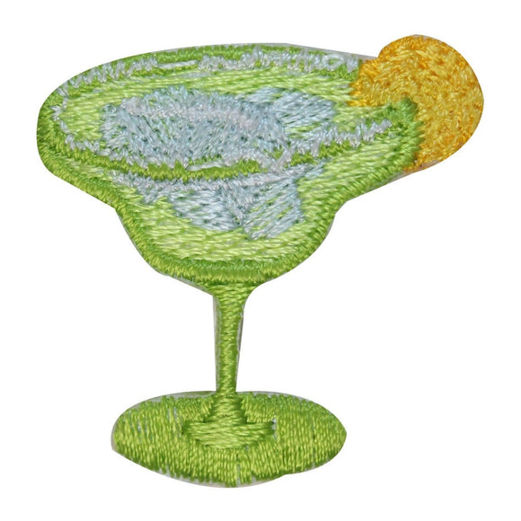ID 1963B Margarita With Lemon Glass Patch Alcohol Embroidered Iron On Applique