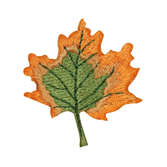 ID 1414A Changing Color Leaf Patch Maple Tree Leave Embroidered Iron On Applique