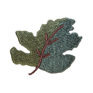 ID 1425A Forest Tree Leaf Patch Fall Autumn Leaves Embroidered Iron On Applique