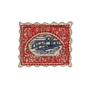 ID 1397A Classic Stamp Patch Collection Postage Embroidered Iron On Applique
