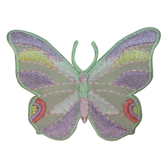 ID 2031 Pastel Color Butterfly Patch Garden Insect Embroidered Iron On Applique