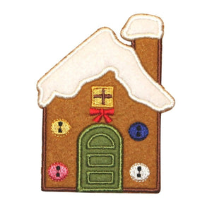 ID 8089 Gingerbread House Patch Tiny Candy Home Decorate Felt Iron On Applique