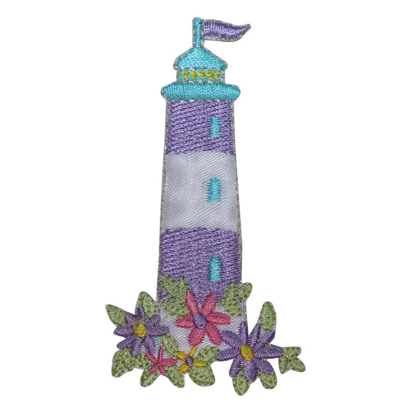 ID 1849 Lighthouse Craft Patch Beach Travel Nautical Embroidered IronOn Applique