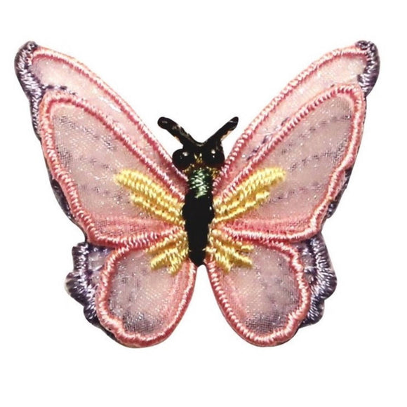 ID 2107 Lace Butterfly With 3D Wings Patch Insect Embroidered Iron On Applique