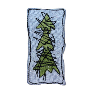 ID 8173A Cartoon Pine Tree Patch Christmas Craft Embroidered Iron On Applique