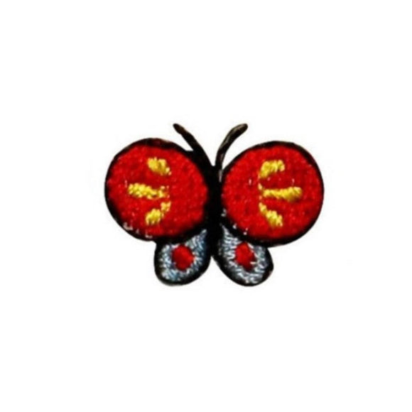 ID 2335C Lot of 3 Tiny Butterfly Patches Insect Bug Embroidered Iron On Applique