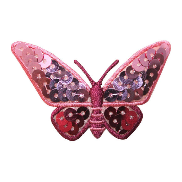 ID 2353 Sequin Wing Butterfly Patch Fairy Bug Embroidered Iron On Applique