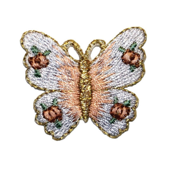 ID 2355 Floral Wing Butterfly Patch Fairy Insect Embroidered Iron On Applique