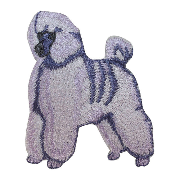 ID 2732 Poodle Dog Patch Fancy Show Pup Breed Embroidered Iron On Applique