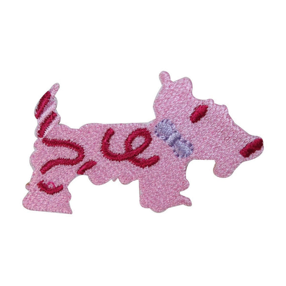 ID 2844A Scottish Terrier Patch Cute Dog Craft Embroidered Iron On Applique