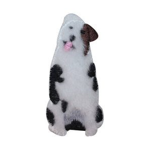 ID 2865C Fuzzy Mutt Dog Patch Puppy Fluffy Pet Embroidered Iron On Applique