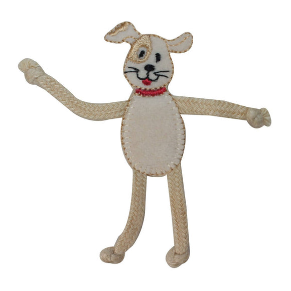 ID 2868 Dog With Adjustable Arms and Legs Patch Pet Embroidered Iron On Applique