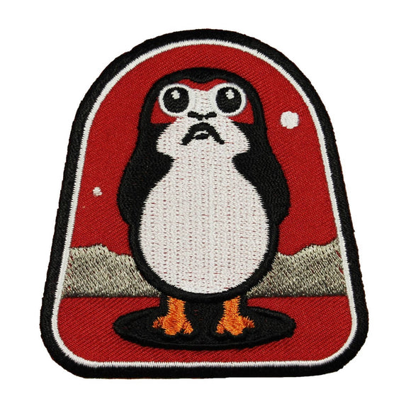 Disney Star Wars The Last Jedi Porg Patch Cute Penguin Creature New Movie Iron On