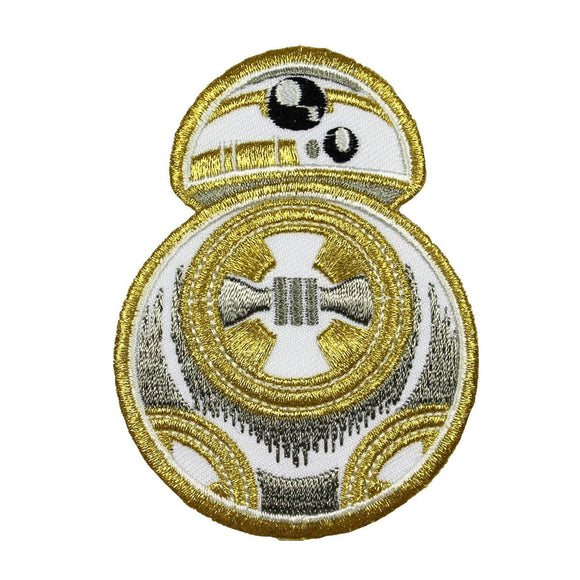 Disney Star Wars The Last Jedi Gold BB-8 Patch New Movie Embroidered Iron On
