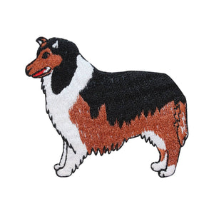 ID 2777 Border Collie Dog Patch Puppy Breed Herder Embroidered Iron On Applique