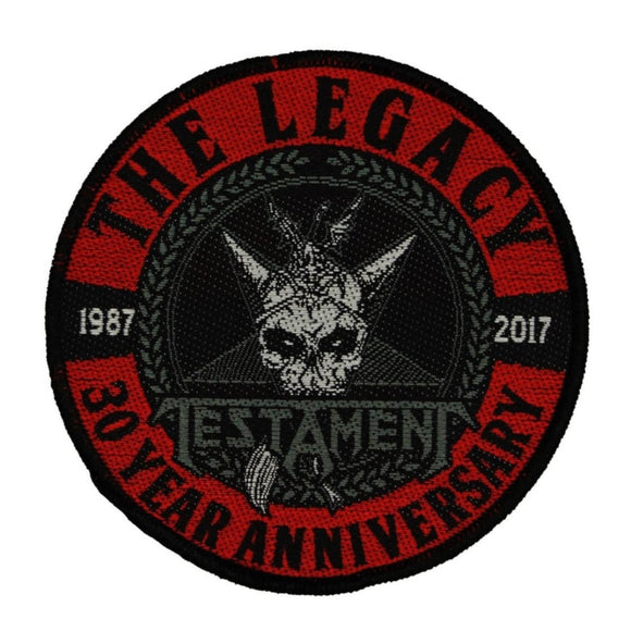 Testament The Legacy Patch 30 Year Anniversary Thrash Metal Woven Sew On Applique