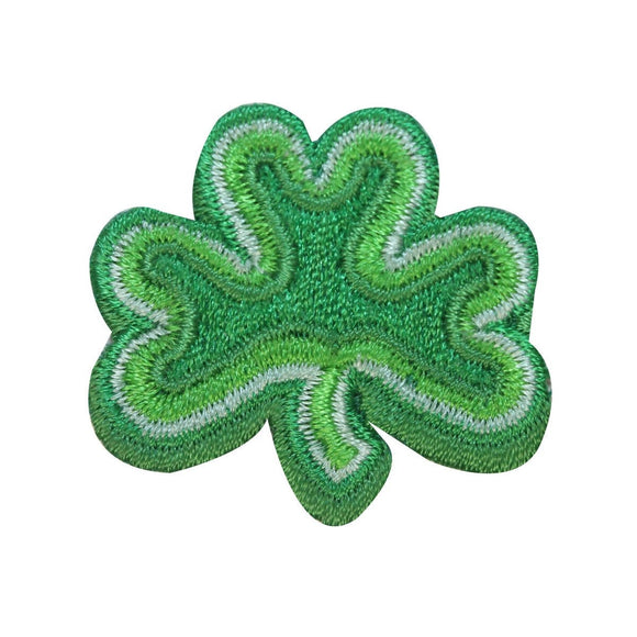 ID 3309A Three Leaf Clover Patch St Patrick Lucky Embroidered Iron On Applique