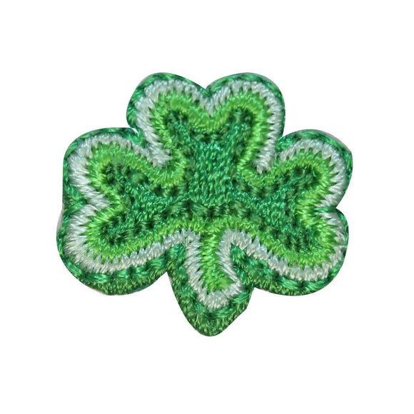 ID 3309B Three Leaf Clover Patch St Patrick Lucky Embroidered Iron On Applique