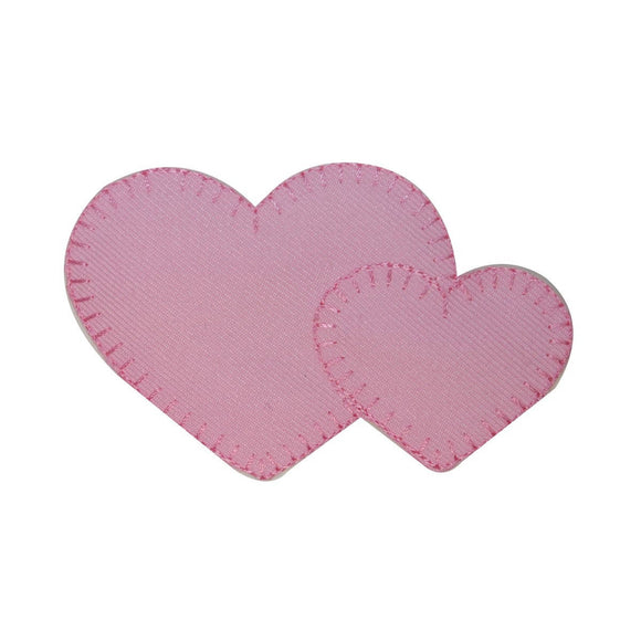 ID 3249 Pink Hearts Patch Valentines Day Love Symbol Embroidered IronOn Applique