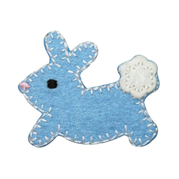 ID 3347B Furry Cottontail Bunny Patch Easter Baby Rabbit Felt Iron On Applique