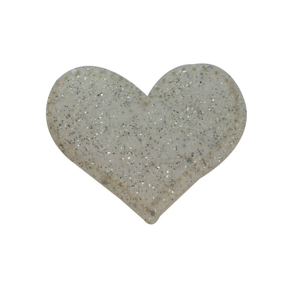 ID 3277C Speckled Heart Patch Valentines Day Love Embroidered Iron On Applique
