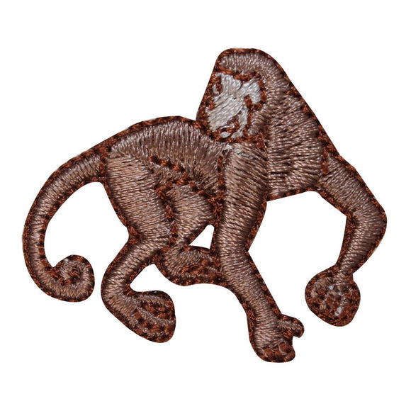 ID 1639B Monkey Walking Patch Chimp Jungle Animal Embroidered Iron On Applique