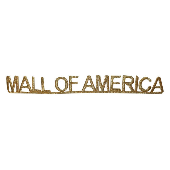 ID 1912 Mall Of America Name Patch Travel Souvenir Embroidered Iron On Applique