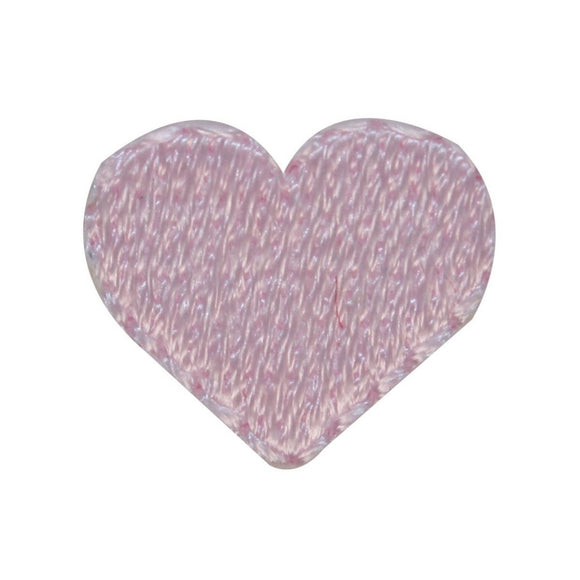 ID 3299B Lot of 3 Tiny Pink Heart Patch Love Shape Embroidered Iron On Applique
