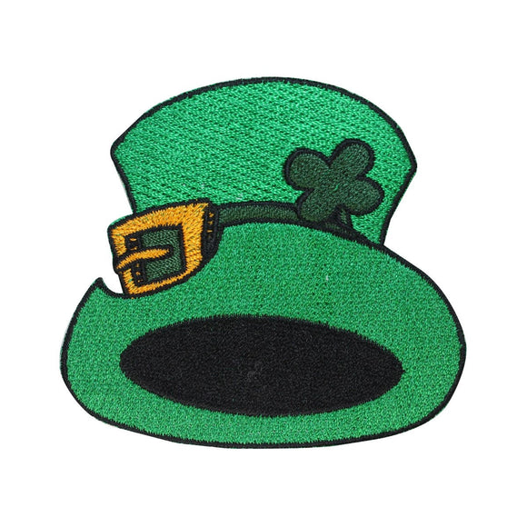 ID 3300 Leprechaun Hat Patch ST Patrick's Day Lucky Embroidered Iron On Applique