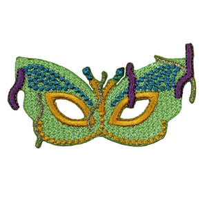ID 3400 Mardi Gras Mask Patch Fancy Dance Disguise Embroidered Iron On Applique
