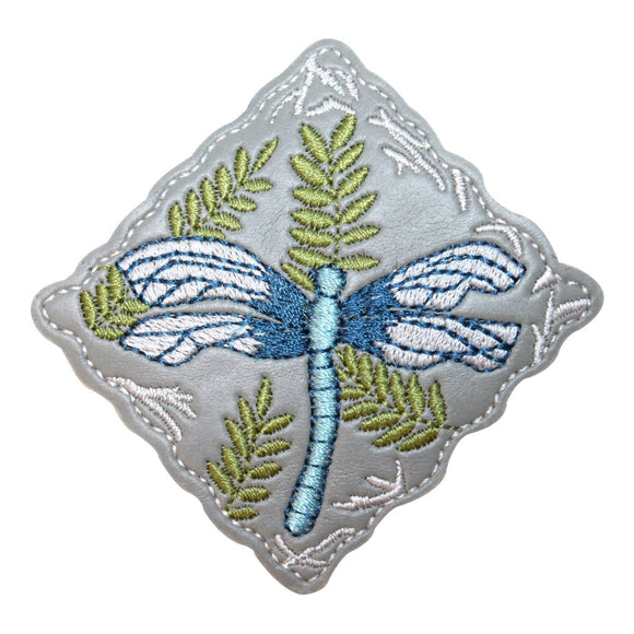 ID 1687 Dragonfly Badge Patch Garden Craft Emblem Embroidered Iron On Applique