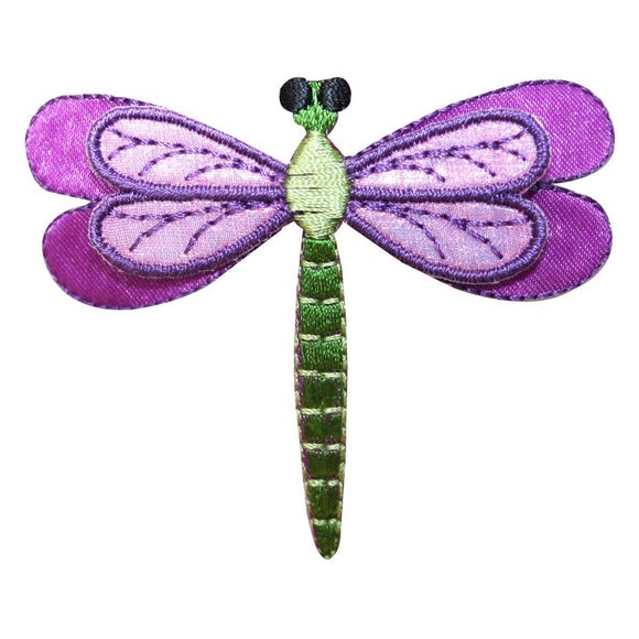 ID 1690 Dragonfly Patch Garden Fairy Insect Bug Embroidered Iron On Applique
