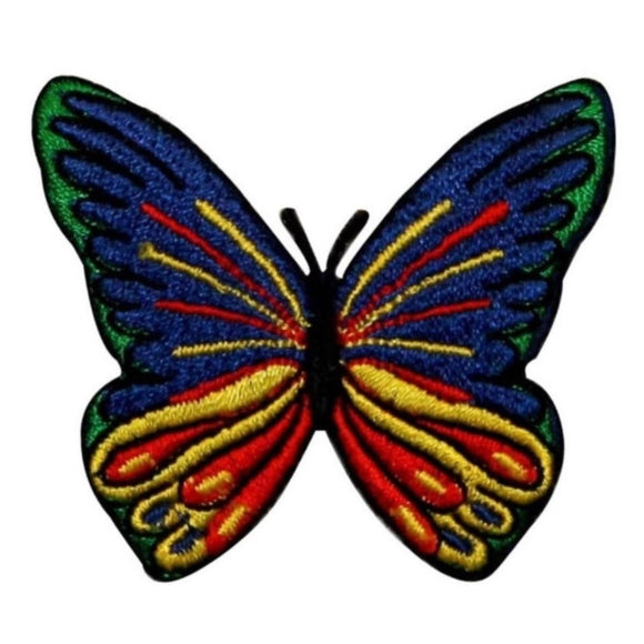 ID 2001 Multi Color Butterfly Patch Garden Insect Embroidered Iron On Applique